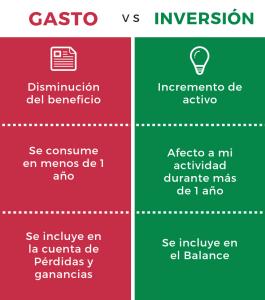 diferencia entre gasto e inversion