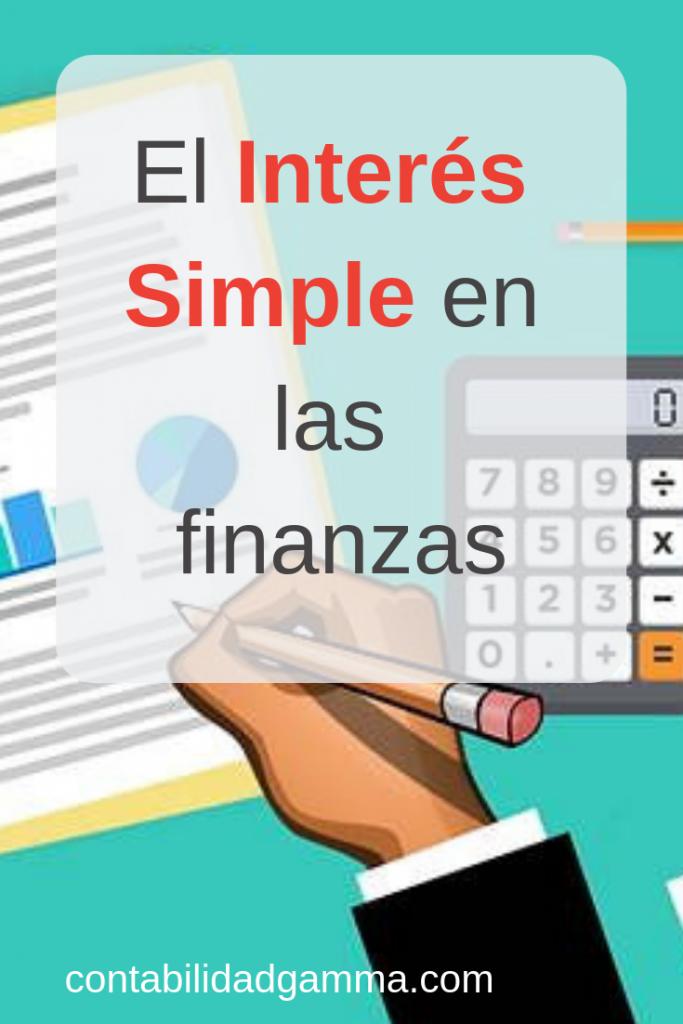 Fórmula del interés simple en matemáticas financieras